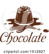 Clipart Of A Chocolate Candy With Text Royalty Free Vector Illustration