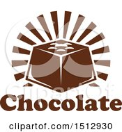 Clipart Of A Chocolate Candy With Text And Rays Royalty Free Vector Illustration