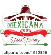 Mexican Food Factory Design With A Sombrero Peppers And Silverware