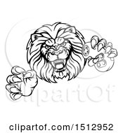 Black And White Male Lion Attacking With A Video Game Controller In One Paw