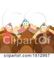 Clipart Of A Group Of Thanksgiving Turkey Birds Royalty Free Vector Illustration