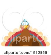 Clipart Of A Thanksgiving Turkey Bird Royalty Free Vector Illustration