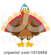 Clipart Of A Thanksgiving Turkey Bird Royalty Free Vector Illustration by Hit Toon
