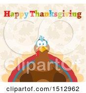 Happy Thanksgiving Greeting Over A Turkey Bird