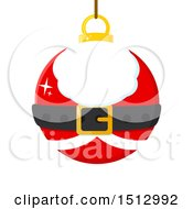 Clipart Of A Santa Suit Christmas Bauble Ornament Royalty Free Vector Illustration by Hit Toon
