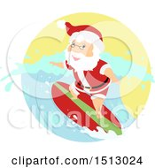 Christmas Santa Claus Surfing