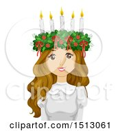 Clipart Of A Teenage Wearing A Saint Lucia Crown Royalty Free Vector Illustration