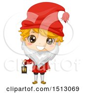 Clipart Of A Swedish Boy In A Christmas Tomte Costume Royalty Free Vector Illustration