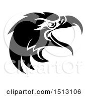 Black And White Eagle Mascot Head