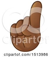 Clipart Of An Emoji Hand Holding Up A Finger Or Pointing Upwards Royalty Free Vector Illustration
