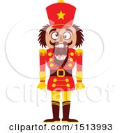 Clipart Of A Christmas Nutcracker With Cracked Teeth Royalty Free Vector Illustration