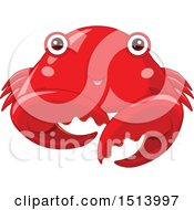 Clipart Of A Cute Red Crab Royalty Free Vector Illustration