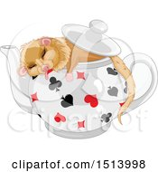 Clipart Of A Dormouse Sleeping In A Pot Royalty Free Vector Illustration by Pushkin