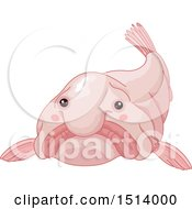 Clipart Of A Pink Blob Fish Royalty Free Vector Illustration
