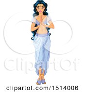 Clipart Of A Beautiful Arabian Princess Jasmine Royalty Free Vector Illustration