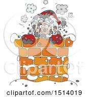 Sooty Santa In A Chimney