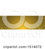 Gold Website Banner Header With Stars