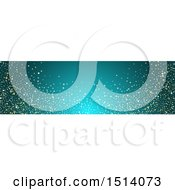 Clipart Of A Blue Website Banner Header With Stars Royalty Free Vector Illustration