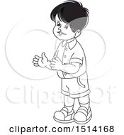 Boy Clapping Grayscale