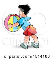 Boy Catching A Beach Ball