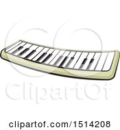 Clipart Of A Toy Electronic Piano Royalty Free Vector Illustration by Lal Perera