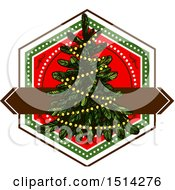 Clipart Of A Christmas Tree Royalty Free Vector Illustration by Vector Tradition SM