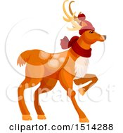 Clipart Of A Christmas Reindeer Royalty Free Vector Illustration by Vector Tradition SM