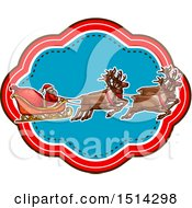 Clipart Of A Santa Claus And Magic Reindeer With A Sleigh Royalty Free Vector Illustration by Vector Tradition SM