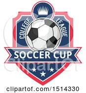 Soccer Ball Shield Design With Text
