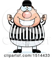 Clipart Of A Chubby Male Referee Gesturing Good Royalty Free Vector Illustration