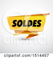 Clipart Of A Soldes Sales Design Banner On A Shaded Background Royalty Free Vector Illustration by beboy
