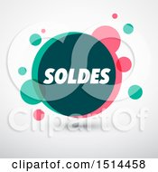 Clipart Of A Bubble Soldes Sales Design On A Shaded Background Royalty Free Vector Illustration by beboy