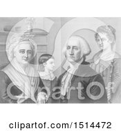 George Washington And Family At Mount Vernon