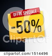 Clipart Of A French Sales Design With Half Off Royalty Free Vector Illustration by beboy