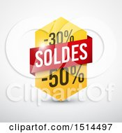 Clipart Of A French Sales Design With 30 And 50 Percent Off Royalty Free Vector Illustration by beboy