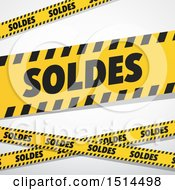 Clipart Of A French Sales Design With Warning Tape Royalty Free Vector Illustration by beboy