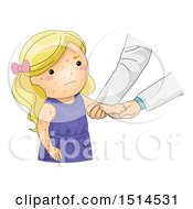 Clipart Of A Girl Sick With Chicken Pox Getting A Check Up Royalty Free Vector Illustration by BNP Design Studio