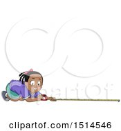 Clipart Of A Happy Girl Measuring Royalty Free Vector Illustration