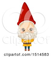 Clipart Of A Boy In A Garden Gnome Costume Royalty Free Vector Illustration