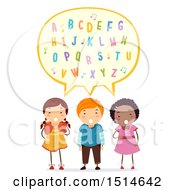 Group Of Children Singing The Alphabet Song