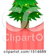 Christmas Tree And Stripes Background