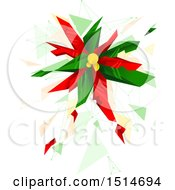 Clipart Of A Geometric Christmas Poinsettia Royalty Free Vector Illustration by BNP Design Studio