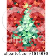 Clipart Of A Geometric Christmas Tre Royalty Free Vector Illustration by BNP Design Studio