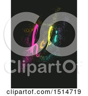 Clipart Of A Holi Pointillism Design Royalty Free Vector Illustration by BNP Design Studio