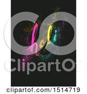 Holi Pointillism Design