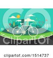 Bicycle Ove Ra Bike Lane And Geometric City