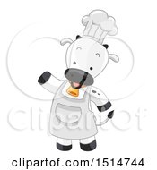 Clipart Of A Chef Cow Mascot Royalty Free Vector Illustration by BNP Design Studio