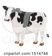 Clipart Of A Black And White Cow Royalty Free Vector Illustration by BNP Design Studio