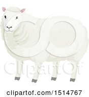 Clipart Of A Wooly White Sheep Royalty Free Vector Illustration by BNP Design Studio