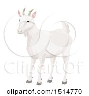 Clipart Of A White Goat Royalty Free Vector Illustration by BNP Design Studio